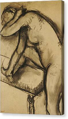 Study Of A Dancer Canvas Print