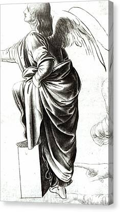 Study Of An Angel  Canvas Print
