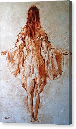 Study Of An Angel Canvas Print by Stuart Gilbert