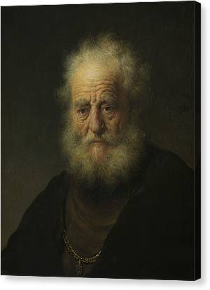 Study Of An Old Man With A Gold Chain Canvas Print