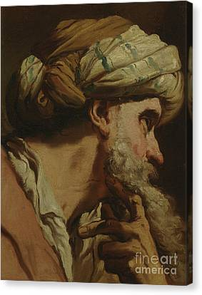 Study Of An Oriental Head Canvas Print by Gaetano Gandolfi