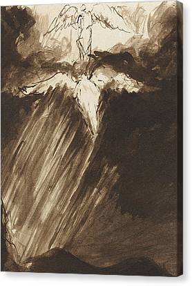 Study Of Jacob's Dream Canvas Print by John Constable
