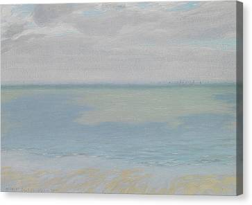 Study Of Sky And Sea Canvas Print by Herbert Dalziel