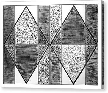 Study Of Texture Line And Materials Canvas Print by Peter Piatt