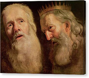Study Of The Heads Of Two Old Men Canvas Print by Philippe de Champaigne