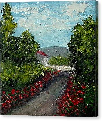 Study Provence Roses Canvas Print by Fred Wilson