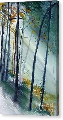 Canvas Print featuring the painting Study The Trees by Allison Ashton