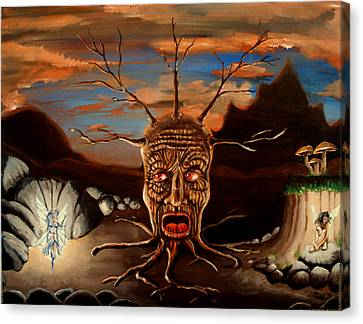 Stump Head Canvas Print
