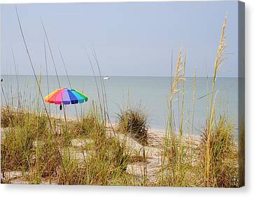 Stump Pass Beach State Park Canvas Print by Steven Scott