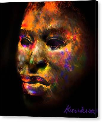 Stunning African Mask  Canvas Print by Alexandra Jordankova