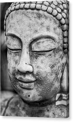 Stunning Buddha Statue Portrait With Shallow Depth Of Field And  Canvas Print