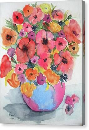 Stunning Flower Arrangement Canvas Print by Harold Kimmel