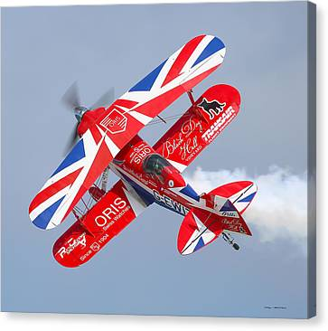 Canvas Print featuring the photograph Stunt Plane by Roy  McPeak