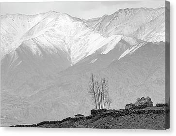 Stupa And Trees Canvas Print
