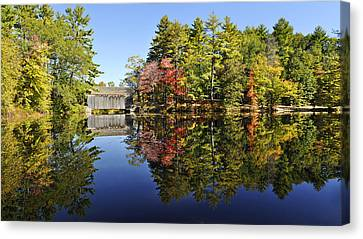 Sturbridge Massachusetts Fall Foliage Canvas Print by Luke Moore