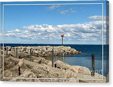 Sturgeon Point Marina On Lake Erie Canvas Print