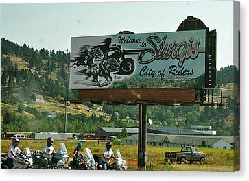 Sturgis City Of Riders Canvas Print by Anna Ruzsan