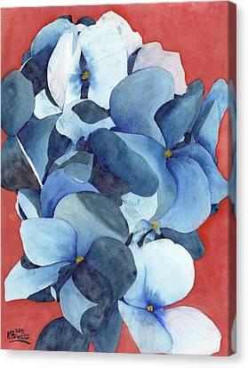 Stylized Hydrangea Canvas Print