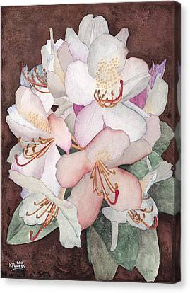 Stylized Rhododendron Canvas Print by Ken Powers