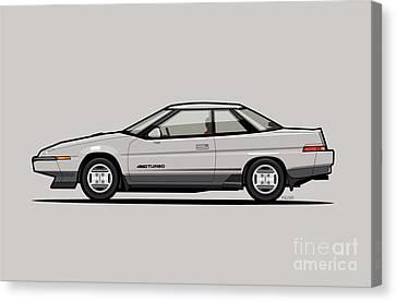Subaru Alcyone Xt-turbo Vortex Silver Canvas Print by Monkey Crisis On Mars