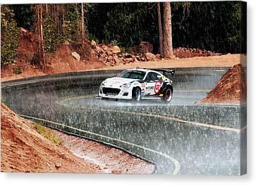 Subaru Brz Ascending Pike's Peak Canvas Print