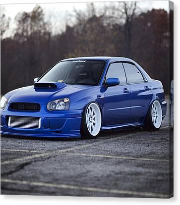 Subaru Impreza Wrx Sti Subaru Tuning Blue 98578 2048x2048 Canvas Print