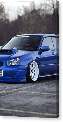 Subaru Impreza Wrx Sti Subaru Tuning Blue 98578 640x1136 Canvas Print