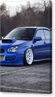 Subaru Impreza Wrx Sti Subaru Tuning Blue 98578 800x1280 Canvas Print