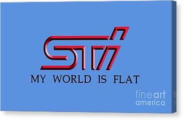 Subaru Impreza Canvas Print - Subaru Sti 3d by Jerry Dyl