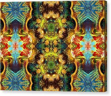 Subconscious Sacred Scrolls Canvas Print by Georgiana Romanovna