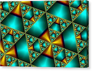 Canvas Print featuring the digital art Sublime Sierpinski Fractal by Manny Lorenzo