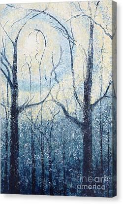 Inspirational. Pointillism Canvas Print - Sublimity by Holly Carmichael