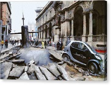 Police Canvas Print - Submarine Accident - Da by Leonardo Digenio
