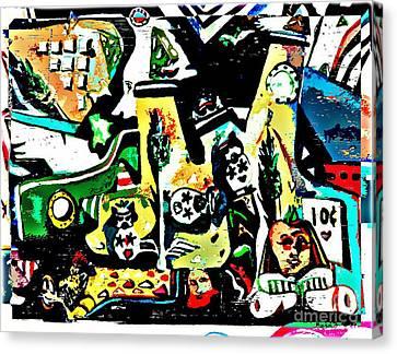 Submarine Sillies Canvas Print by Mindy Newman