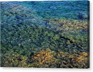 Submerged Rocks At Lake Superior Canvas Print