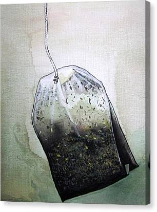 Submerged Tea Bag Canvas Print
