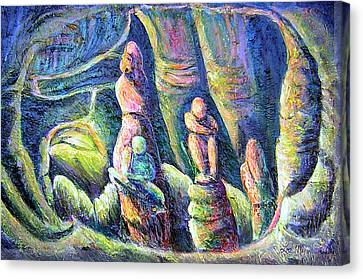 Canvas Print featuring the painting Subterranean Fantasy by Lee Nixon
