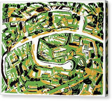Suburb With Roads Canvas Print