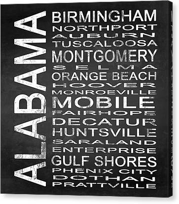 Subway Alabama State Square Canvas Print by Melissa Smith