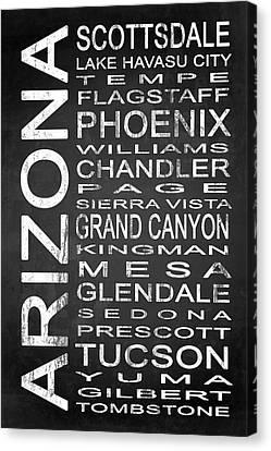 Subway Arizona State 1 Canvas Print by Melissa Smith