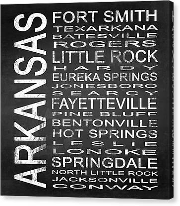 Subway Arkansas State Square Canvas Print by Melissa Smith