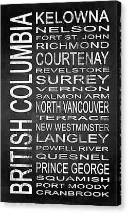 Subway British Columbia 2 Canvas Print by Melissa Smith