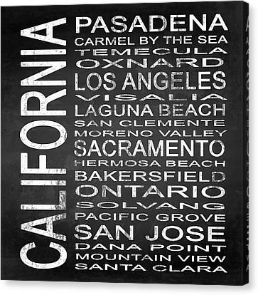 Subway California State 2 Square Canvas Print