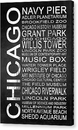 Subway Chicago 1 Canvas Print by Melissa Smith