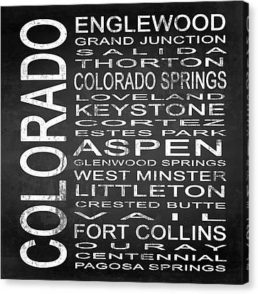 Subway Colorado State 2 Square Canvas Print by Melissa Smith