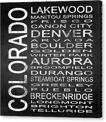 Subway Colorado State Square Canvas Print by Melissa Smith