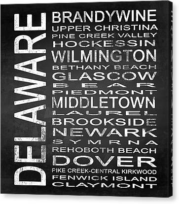 Subway Delaware State Square Canvas Print by Melissa Smith