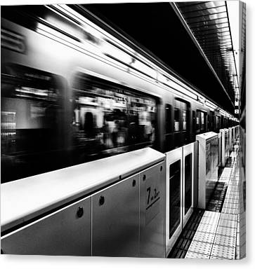 Subway Canvas Print by Hayato Matsumoto