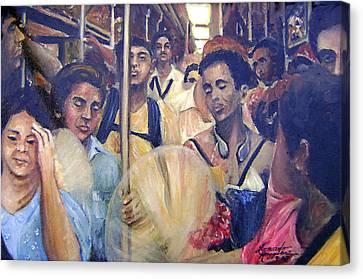 Subway Heat Canvas Print by Leonardo Ruggieri