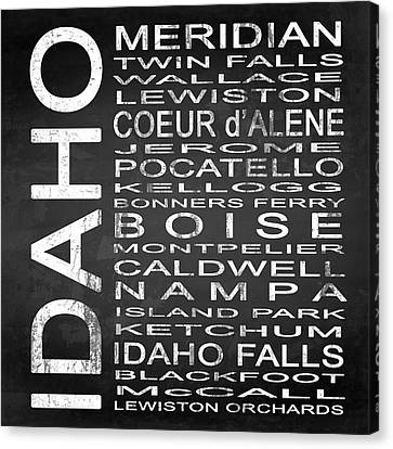 Subway Idaho State Square Canvas Print by Melissa Smith